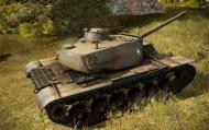Американский тяжелый танк Т110E5 вид сбоку