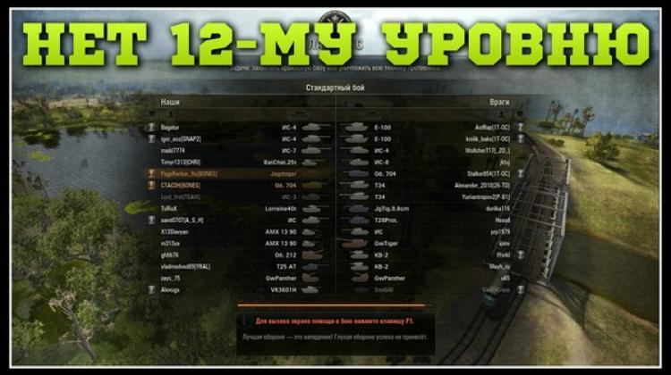 Отмена 12-го уровня боев в WoT 0.8.11 Новости