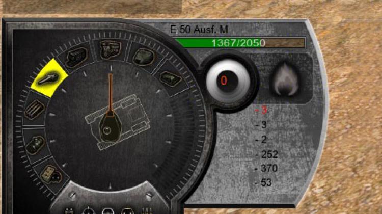 Дамаг-панель Bionick для World of Tanks Панель повреждений
