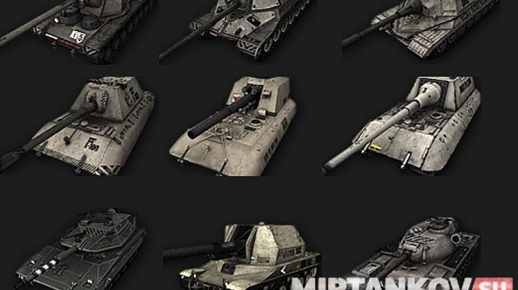 Иконки танков в ангаре с камуфляжами для World of Tanks 0.9.14 Иконки танков