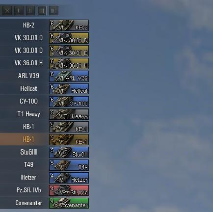 Цветные иконки танков от BlackSpy для World of Tanks Иконки танков