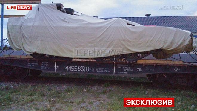 БМП Т-15 «Армата» загорелась во время транспортировки Новости