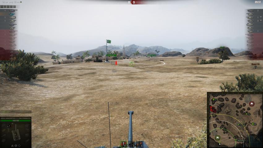 Квадратный прицел для World of Tanks Прицелы