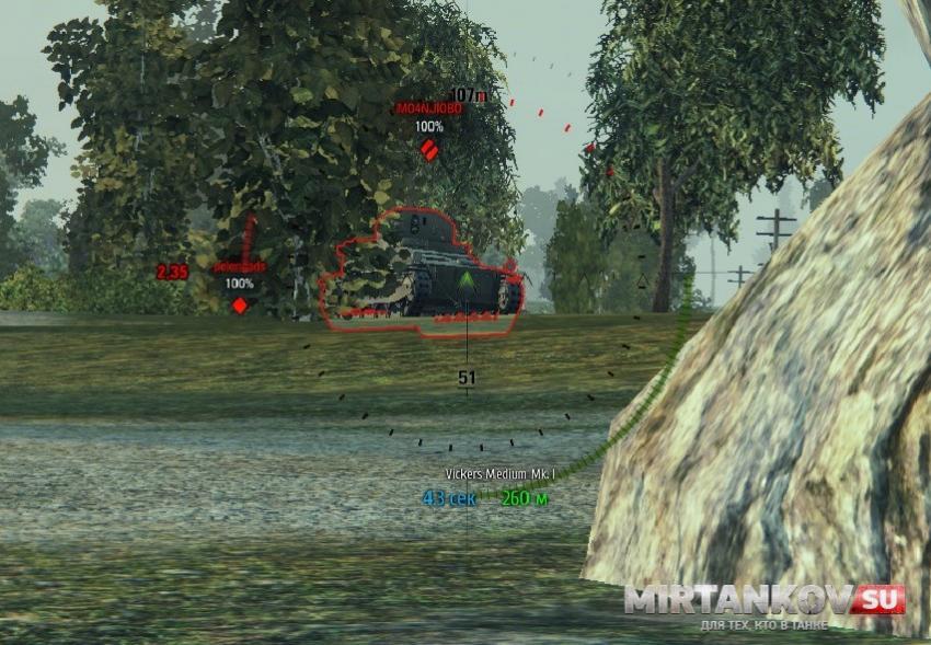 Информационная мини-панель о танке противника для WoT Интерфейс