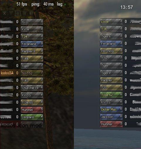 Цветные иконки танков Prudenter для WoT Иконки танков