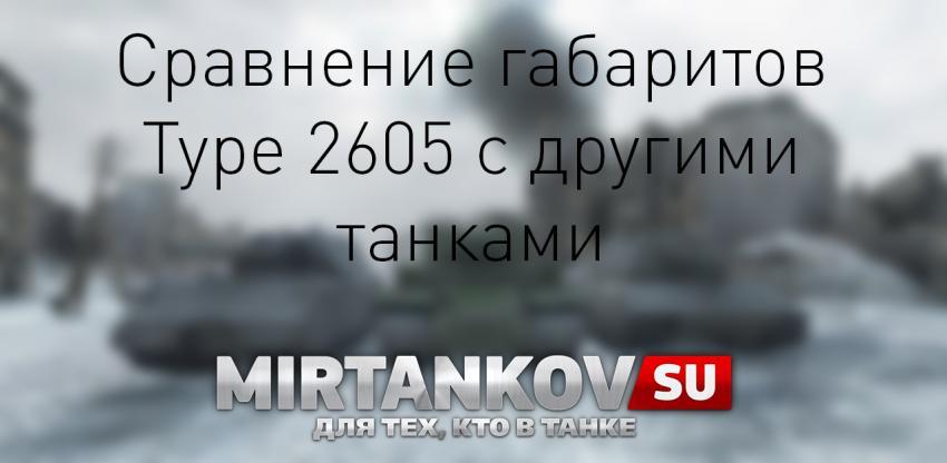 Сравнение габаритов Type 2605 с другими танками Новости