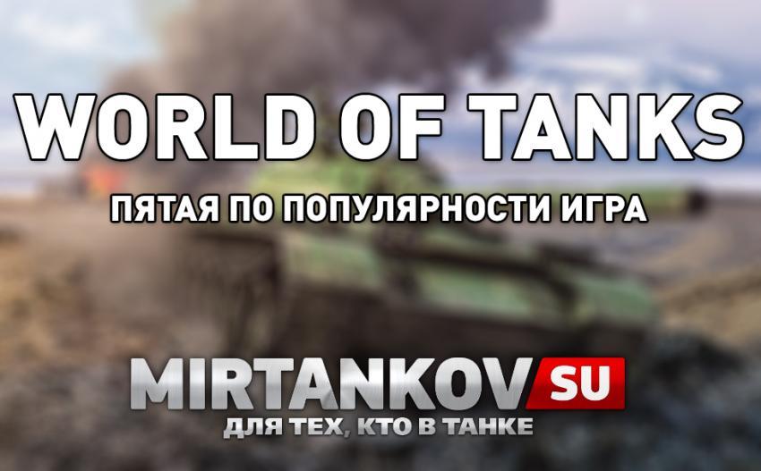 WOT - 5 по популярности игра в мире Новости