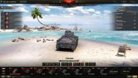 Ангар Тихий пляж для World of Tanks Ангары