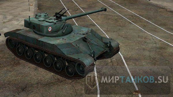 Bat Chatillon 25t на 10 уровне world of tanks