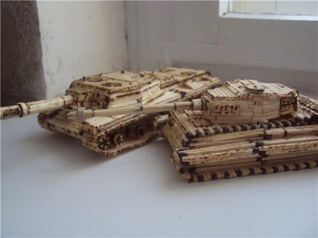Как сделать спичечный танк фото 536