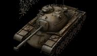 Обзор американского среднего танка 10 уровня М48А1.