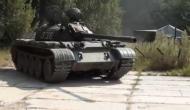 Латвийцев напугал русский на танке Т-55 Новости