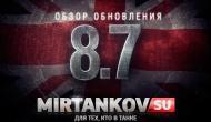 Видео обзор обновления World of Tanks 0.8.7 Новости