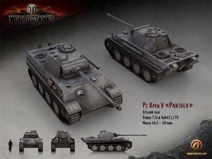 Обзор немецкого среднего танка Panther V