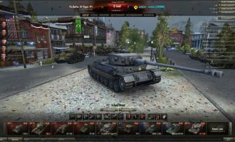 Праздничный ангар с танками Ангары