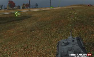 Мод Тылы - индикатор ближайшего к вам врага для World of Tanks 0.9.17 Интерфейс