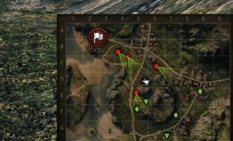 Направление орудий врагов на миникарте для World of Tanks Миникарты