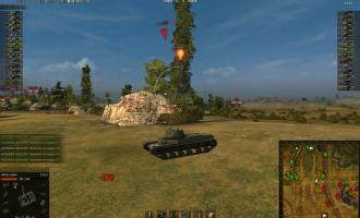 Индикатор направления урона для World of Tanks 0.9.15.1.1 Индикаторы урона