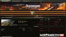 Финальная статистика с Георгиевской лентой Заставки и загрузочные экраны