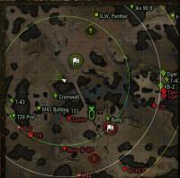 Показ места сведения союзной артиллерии для WoT Разные моды