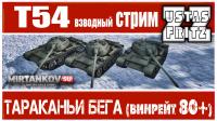 LIVE MIRTANKOV.SU : ТАРАКАНЬИ БЕГА (нагиб на Т-54) Видео