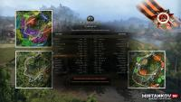 Тактическая карта при загрузке боя для WoT Миникарты