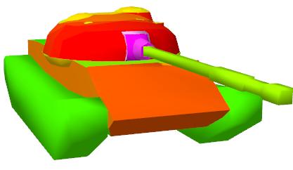 Колижен модель брони Т-62А