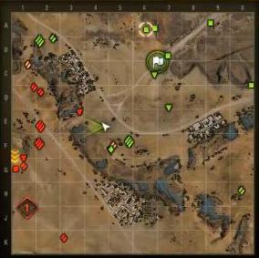 Мини карта Песчаной реки