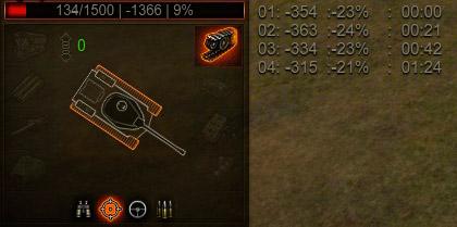 Пробитие ИС-3 из СУ-8