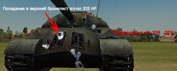 Пробитие верхнего бронелиста ИС-3