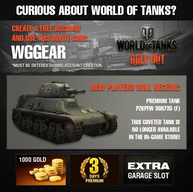 gratis bonus code world of tanks