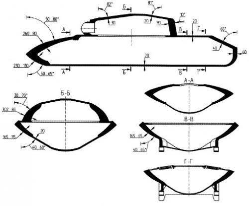 Схема бронирования ИС-7