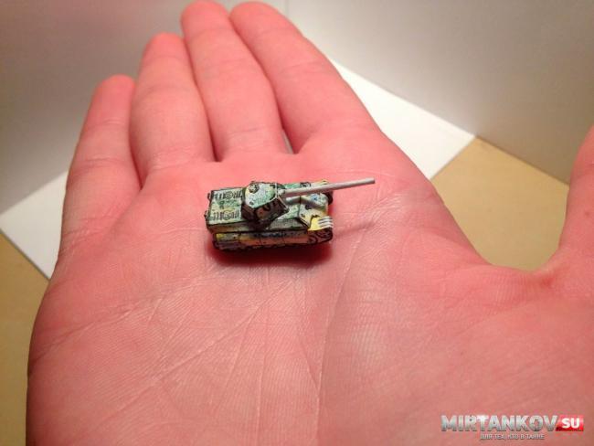 самый маленький танк из бумаги