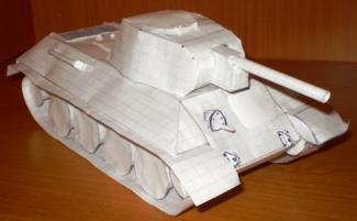 как из бумаги сделать танк