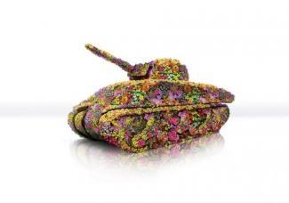танк из цветов