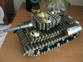 полноценный танк из гильз