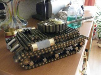 танк из гильз в домашних условиях