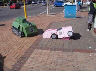 как сделать танк из коробки