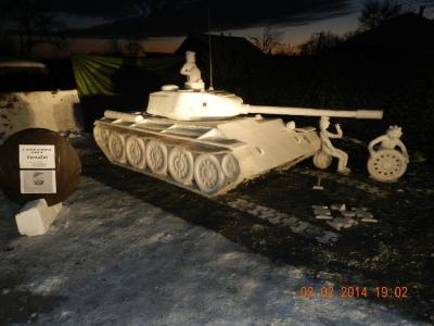 танк из снега