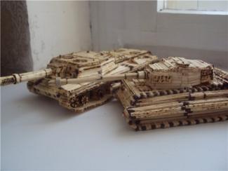 инструкция как сделать танк из спичек