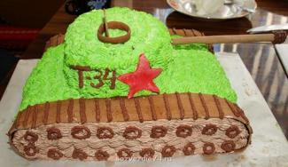 танк из торта