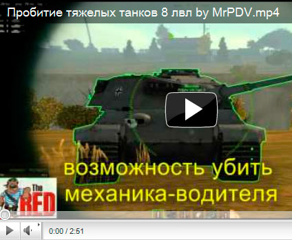 Зоны пробития танков от 8